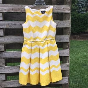 Fun summer yellow and white Just ... Taylor dress.